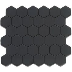 Roca Tile 2X2 Hexagon Black Matte Mosaic