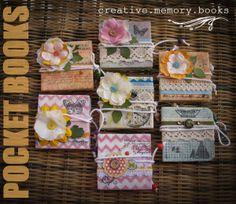 mypaperadventure: Fabric covered mini-books for ARTe..