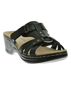 Look what I found on #zulily! Black Strappy O-Ring Sandal #zulilyfinds