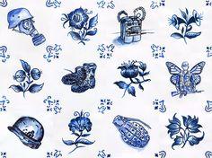 Ôh, lá na SUA casa... Ocupação Monarca II (c.1)  impressão fine art sobre papel de algodão | edição de 10 + 2 P.A.s | 2016 | 45 x 60 cm  informações: inbox  #OcupacaoMonarca #OcupaçãoMonarca #Lisboa #Portugal #Azulejo #Azulejos #FiguraAvulsa #FábioCarvalho #FabioCarvalho #Lisbon #tile #tiles #InstAzulejos #InstAzulejo