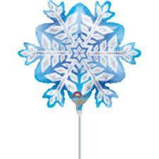 Balão metalizado Flocos de neve Anagram - Estilo e festas