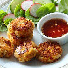savoury sesame tofu fritters