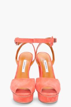 Platform suede sandals