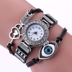 Ethnic Friendship Band Maltilayered Bracelet Wristwatches