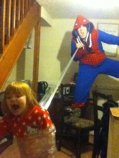 Spider-man baby sitter.