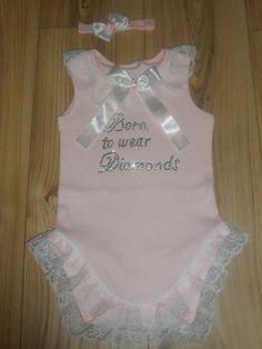 Romany/Gypsy baby girls frilly bling crystal vest and headband set   eBay