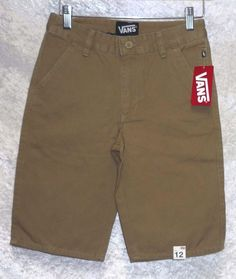 Vans Boys Skate Shorts Flat Front Cotton Khaki Communo Dirt size 12 NEW  14.99 free us shipping http://www.ebay.com/itm/Vans-Boys-Skate-Shorts-Flat-Front-Cotton-Khaki-Communo-Dirt-size-12-NEW-/262922508835?var=&hash=item82d5501a12