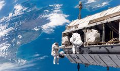 Spacewalk on ISS