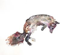 Spotlight #3: Danielle Frenken on her nature inspired art; watercolor fox
