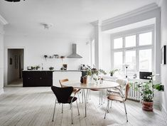 A picture of calm in a Swedish home
