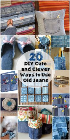 20 DIY Cute and Clever Ways to Use Old Jeans