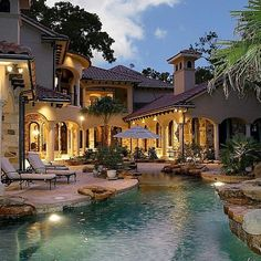 Gorgeous backyard to this mediterranean villa.