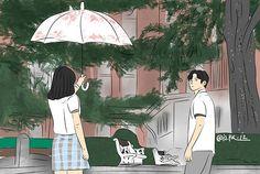 "N.Faisyah on Instagram: ""Extraordinary You #rowoon #sf9rowoon #kimhyeyoon #extraordinaryyou #izillust #kdramafanart"" Drawing Wallpaper, V Bts Wallpaper, Kdrama, Weightlifting Fairy Kim Bok Joo Fanart, Cute Canvas, Small Canvas, Canvas Art, Korean Drama Romance, Anime City"