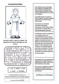 El Rincón de las Melli: Breve historia de San Antonio de Padua con juego