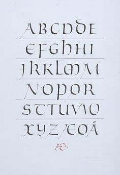 Modernised uncial alphabet. Christopher Haanes.