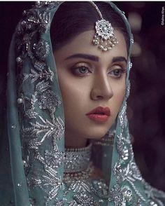 "#suit #indian #pakistani #punjabi #traditional #embroidery #dupatta #silver #dabka #zardozi #zardosi #blue 886 Likes, 12 Comments - SAMREEN VANCE (@samreenvance) on Instagram: ""Epic look by @marvishabbir captured flawlessly by @ashna_khan in collabration with @samreenvance…"" Pakistani Wedding Outfits, Pakistani Bridal Wear, Indian Bridal Fashion, Bridal Hijab, Bridal Dresses, Bridal Looks, Bridal Style, Rajput Jewellery, Gold Jewellery"