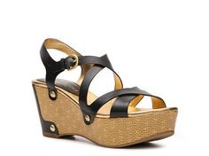 Audrey Brooke Addie Wedge Sandal Womens Wedge Sandals Sandals Womens Shoes - DSW