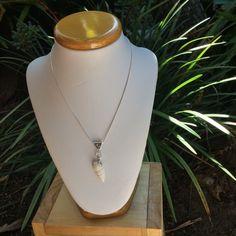 Porcelain turban sea shell necklace by simonesceramics on Etsy