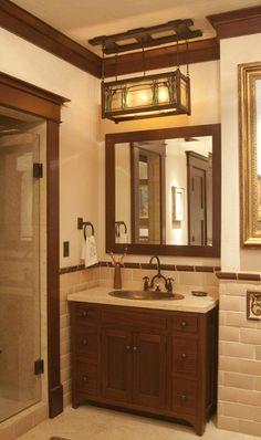 Circa 1918 craftsman bathroom - March 03 2019 at Craftsman Style Bathrooms, Bungalow Bathroom, Craftsman Decor, Craftsman Interior, Craftsman Style Homes, Craftsman Bungalows, Craftsman Style Interiors, Craftsman Style Furniture, Craftsman Remodel