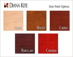 Stain Finish Options: Custom Hardwood Boxes, Personalized in your choice of finish, Maple, Cherry, Walnut, Mahogany, Cinnabar