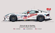 Viper Exchange Illustration - 24 Hours of Le Mans by Steven Dahlen at www.stevendahlen.com