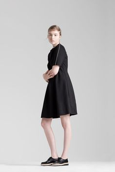 Sustainable fashion for a feminine and effortless style Sustainable Fashion, High Neck Dress, Feminine, Classic, Collection, Black, Dresses, Style, Girly