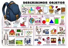 Describe Objects P Spanish Teacher, Spanish Classroom, Teaching Spanish, Spanish Lesson Plans, Spanish Lessons, Spanish 1, How To Speak Spanish, Class Activities, Classroom Activities