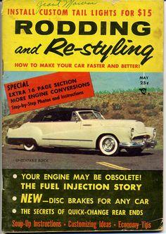 rodding and restyling magazine vtg may 1956 hot rod drag race hop up custom