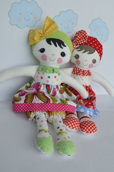 PDF sewing pattern Doll, soft toy, Dressed doll , 'LEAH HONEY' Dolly: