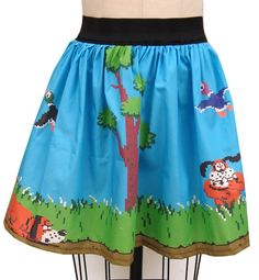 Retro Game DH Inspired Skirt by GoFollowRabbits on Etsy