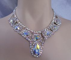 Ballroom Pear and Oval Necklace