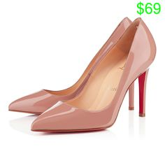 Louboutins - Nude Patent Leather