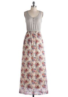 Evening at Ease Dress: As you clean up the kitchen after a delicious homemade dinner  you look out the window to find the most breathtaking sunset! You slip on a pair of light brown T…    #1960s #60s #Retro #Vintage #EveningAtEaseDress, #ModCloth