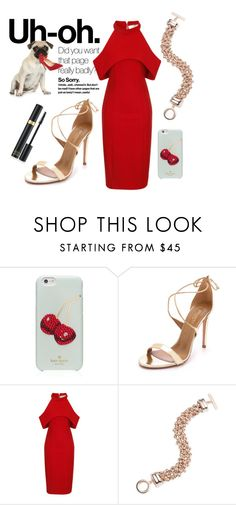 """""""Untitled #1707"""" by moria801 ❤ liked on Polyvore featuring Kate Spade, Aquazzura, Topshop, Anne Klein and Tom Ford"""