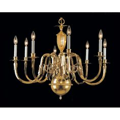 Found it at Wayfair - Hampton 8 Light Chandelier Candle Chandelier, Candelabra, Chandelier Lighting, Chandeliers, Polished Brass, Solid Brass, Classic Lighting, Island Lighting, Home Lighting