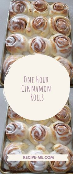 One Hour Cinnamon Rolls - Cinnamon İdeas Cinnamon French Toast Bake, Cinnamon Roll Icing, Cinnamon Roll Monkey Bread, Cinnamon Roll Casserole, Cinnamon Roll Pancakes, Cinnamon Roll Cookies, One Hour Cinnamon Roll Recipe, Cinnamon Rolls From Scratch, Best Cinnamon Rolls