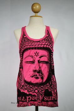 Buddha Tank top Yoga Singlet Ganesha Hamsa Hindu