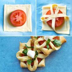 Antipasti con pasta sfoglia veloci e originali, per ogni ospite! // menù di natale, ricette per feste, facile e veloce, tutorial