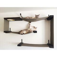 Fabric Cat Wall Maze