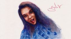 Speed Drawing Luxury Girl - Anastasia Chernova Portrait - Портрет Анаста...