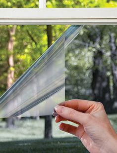 one way mirror film - use this on the doors so I don't need to mess with curtains? Have to think about this...