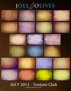 Check out my new Texture Club.  http://www.joelolives.com/?p=827