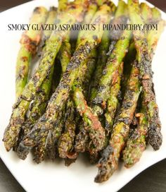 DELICIOUS way to prepare asparagus! The smoky flavor pushes this side dish into the favorite recipes category!