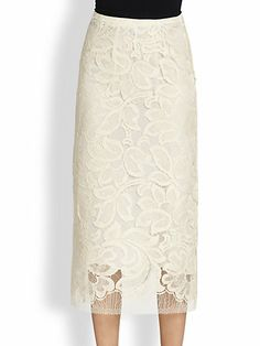 Tome - Lace Midi Skirt