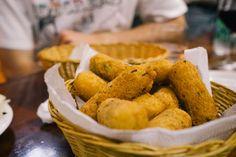 Rio de Janeiro Cray !!! Portuguese Tapas at Adega Pérola - Bolinhos de Bacalhau - fried cod fish sticks!