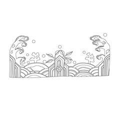 십장생문 Korean Design, Oriental Pattern, China Art, Korean Art, Korean Traditional, Traditional Paintings, China Fashion, Chinese Style, Folk