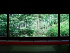 [Kyoto: Housenin] A small temple that features the garden, making you feel that you are looking at a painting instead of a real garden. #kyoto
