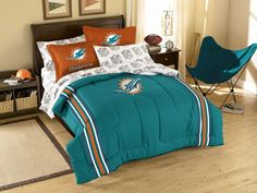Use this Exclusive coupon code: PINFIVE to receive an additional 5% off the Miami Dolphins Contrast Full Size Bed in a Bag only $129.95 at SportsFansPlus.com