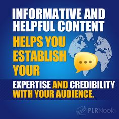 Informative and helpful content helps you establish your expertise and credibility with your audience.
