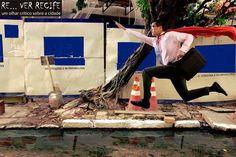 O super pedestre contra as forças da calçada é o trabalho de Luci Matias. Dentro em breve, teremos que desenvover a habilidade de voar para fugir de buracos, entulhos e poças de lama. Para o alto e avante!